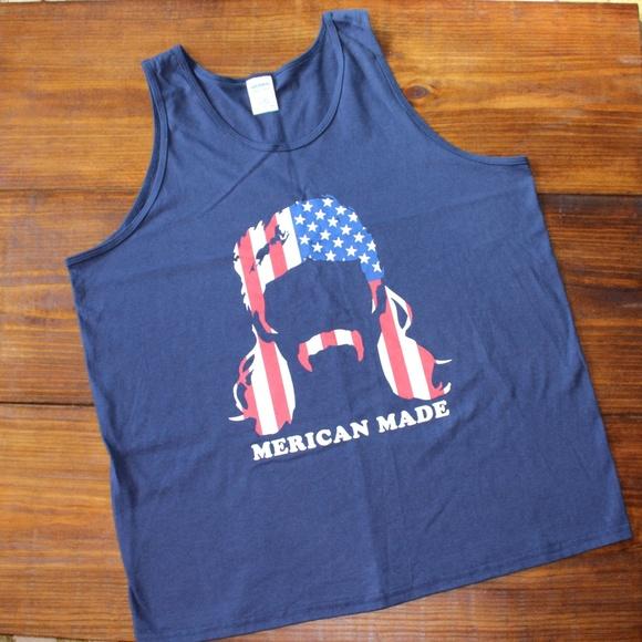 5c78c792083e Gildan Shirts | Nwot Usa Mullet Man Muscle Tee Tank Top | Poshmark